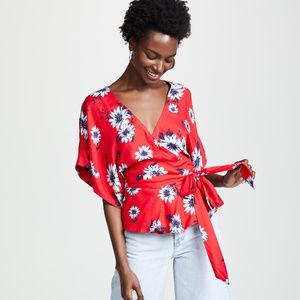 Yumi Kim kimono style floral wrap top